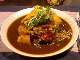 野菜とベーコンのカレー